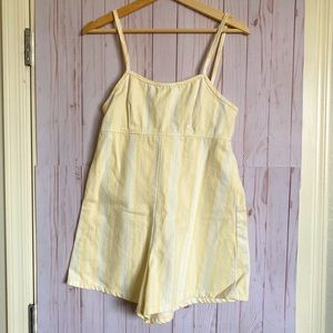 NWT Urban Outfitters Yellow&White Romper | Size 2